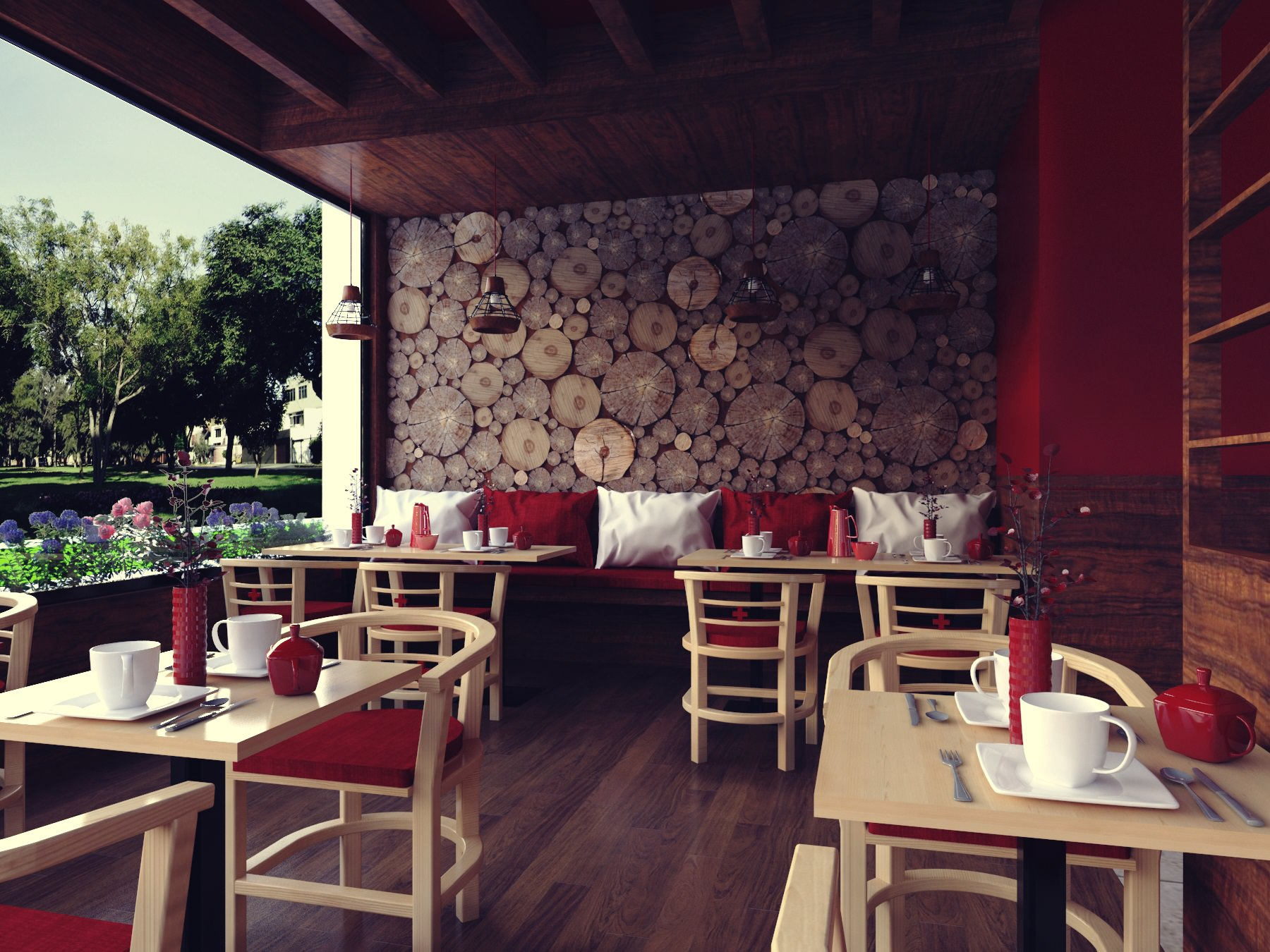 Diseno De Interiores Desarrollo Espacial Para Una Cafeteria Pablo - Diseo-cafeterias-modernas